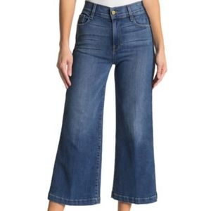 FRAME Le Vintage Crop Wide Leg High Rise Jeans